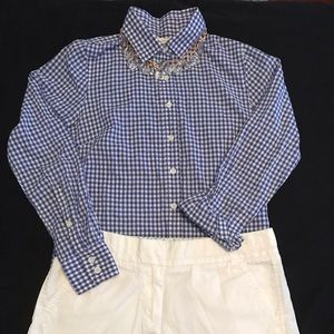 Blue & White Gingham J. Crew Button Up